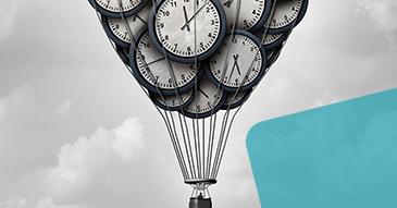 Mongolfière en horloges